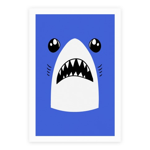 Left Shark Face Poster
