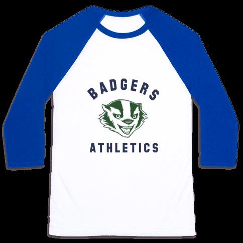 Badgers Green & Navy Baseball Tee