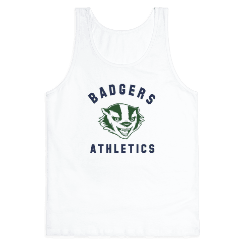 Badgers Green & Navy Tank Top