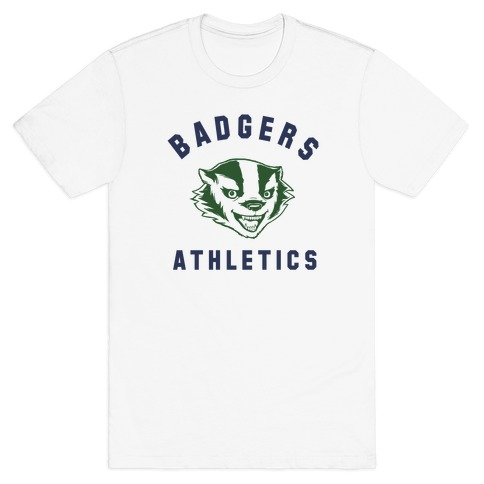 Badgers Green & Navy Mens T-Shirt