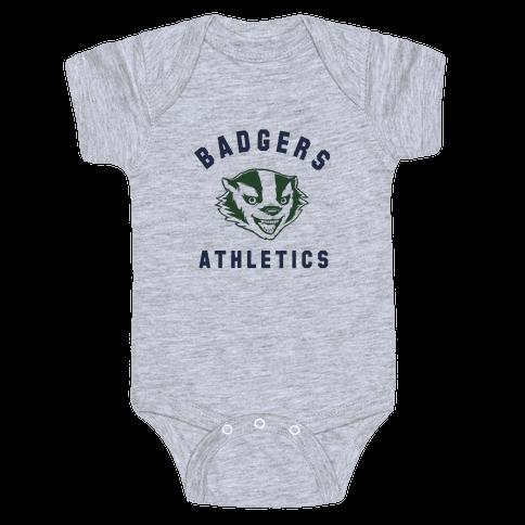 Badgers Green & Navy Baby Onesy
