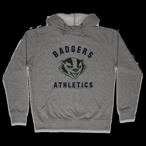 Badgers Green & Navy Hooded Sweatshirt