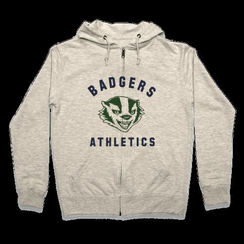 Badgers Green & Navy Zip Hoodie