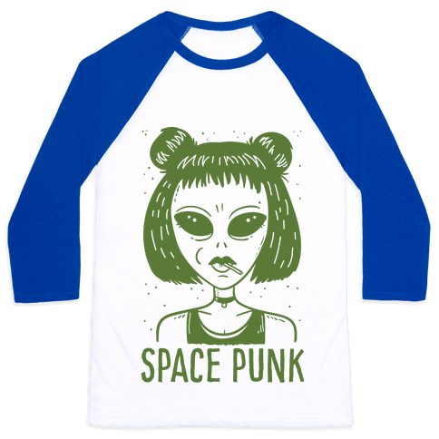 Space Punk Alien Baseball Tee