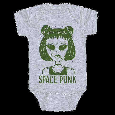 Space Punk Alien Baby Onesy