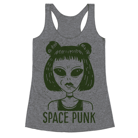 Space Punk Alien Racerback Tank Top