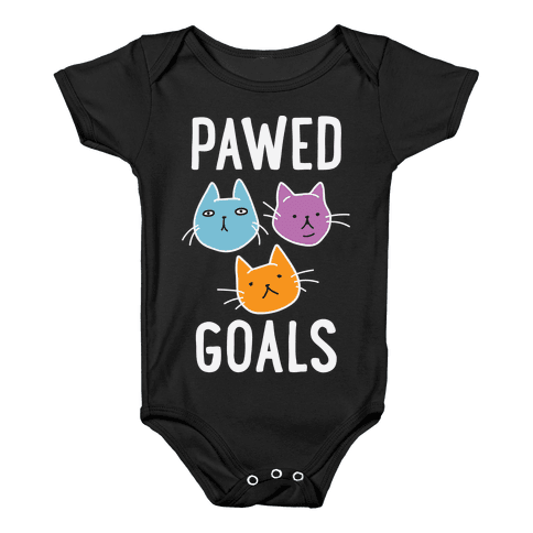 Pawed Goals Baby Onesy