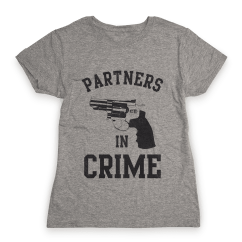 Partners in Crime Vintage (Right) Womens T-Shirt