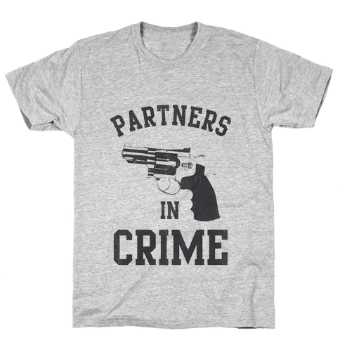 Partners in Crime Vintage (Right) Mens T-Shirt