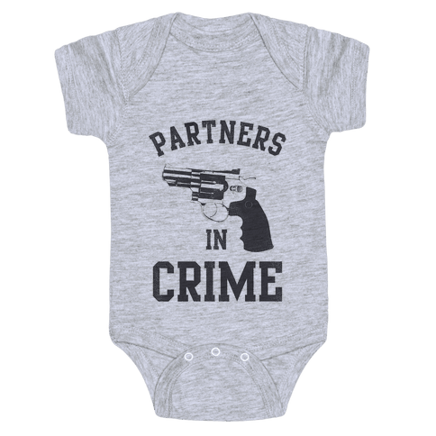 Partners in Crime Vintage (Right) Baby Onesy