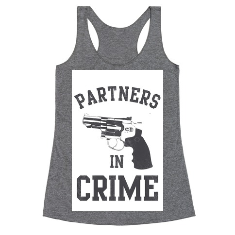 Partners in Crime Vintage (Right) Racerback Tank Top