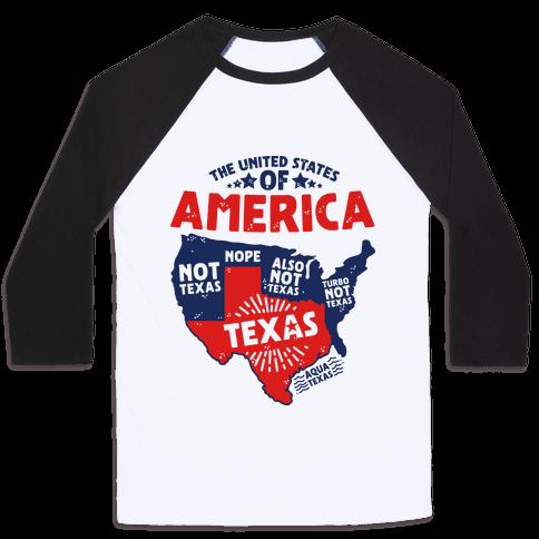 United States of Texas Baseball Tee