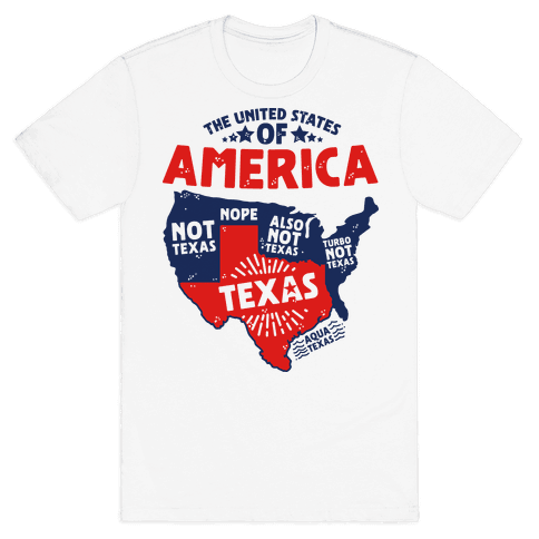 United States of Texas Mens T-Shirt