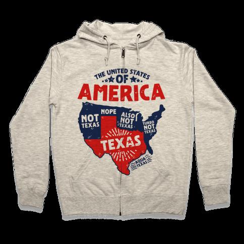 United States of Texas Zip Hoodie