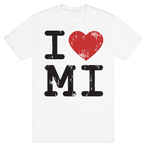 I Love Michigan Mens T-Shirt