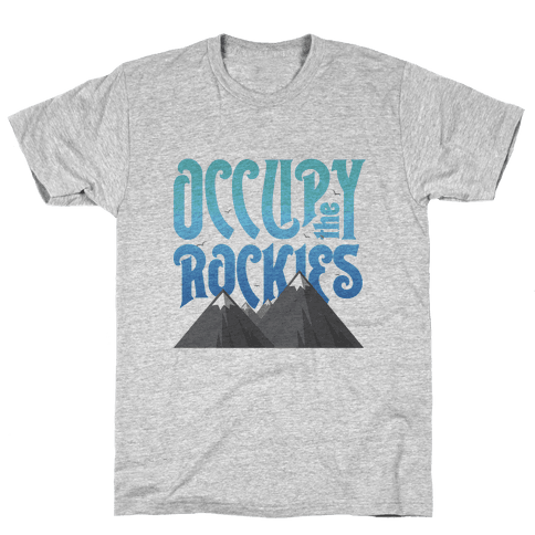 Occupy the Rockies Twilight Mens T-Shirt