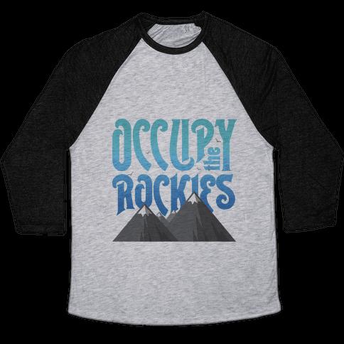 Occupy the Rockies Twilight Baseball Tee