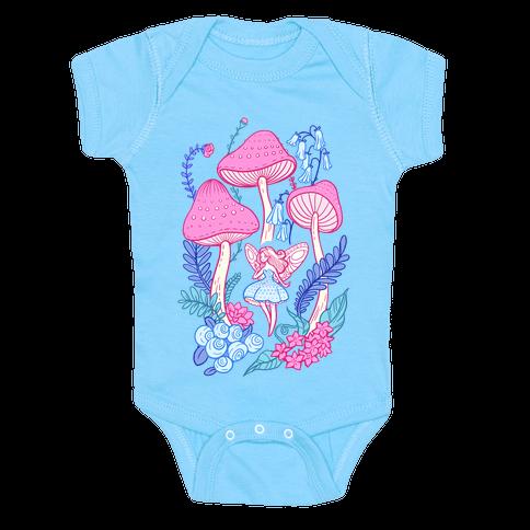 Pastel Fairy Garden Baby Onesy