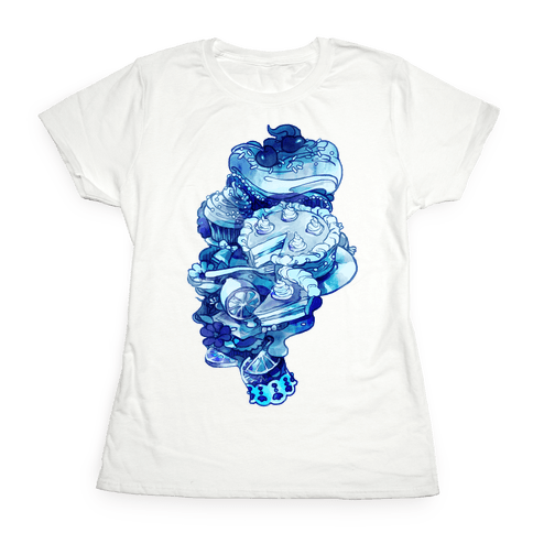 Marie Antoinette Cake and Sweets Womens T-Shirt