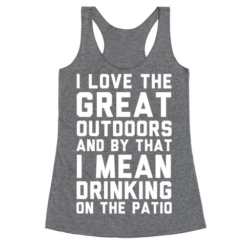 I Love The Great Outdoors Racerback Tank Top