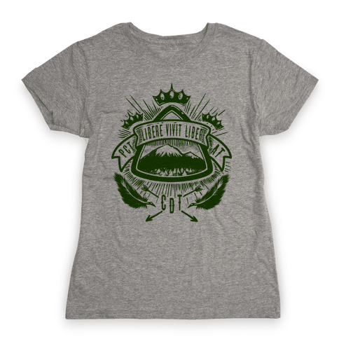 Triple Crown Hiking Trail Crest Womens T-Shirt