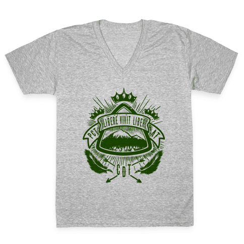 Triple Crown Hiking Trail Crest V-Neck Tee Shirt