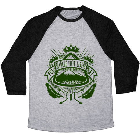 Triple Crown Hiking Trail Crest Baseball Tee