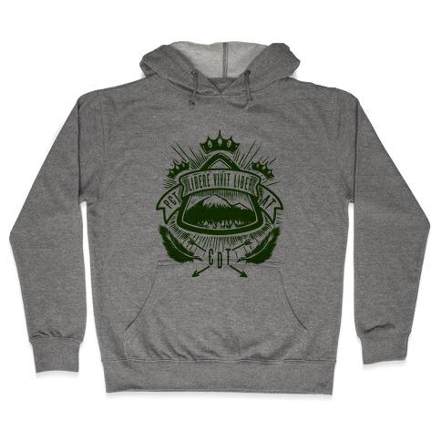 Triple Crown Hiking Trail Crest Hooded Sweatshirt