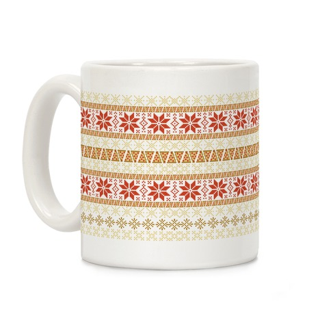 Merry Pizza Sweater Pattern Coffee Mug