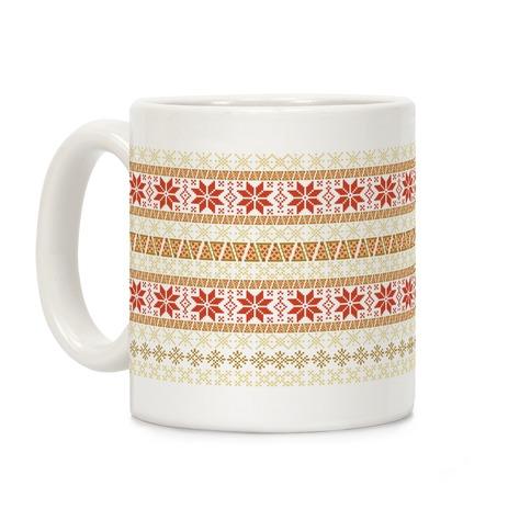 Merry Pizza Sweater Pattern Coffee Mug