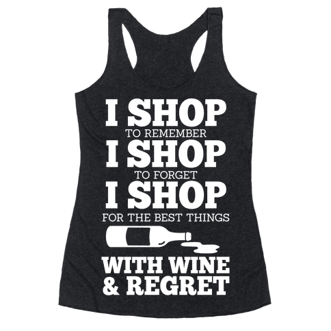 Shop With Wine Racerback Tank Top