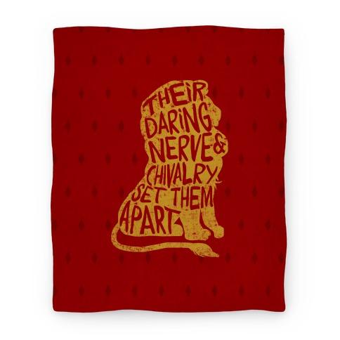 Their Daring Nerve & Chivalry Set Them Apart (Gryffindor) Blanket
