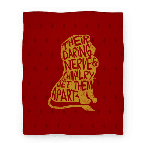 Their Daring Nerve & Chivalry Set Them Apart (Gryffindor) Blanket