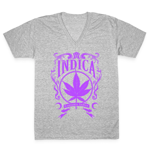 Cannabis Indica V-Neck Tee Shirt