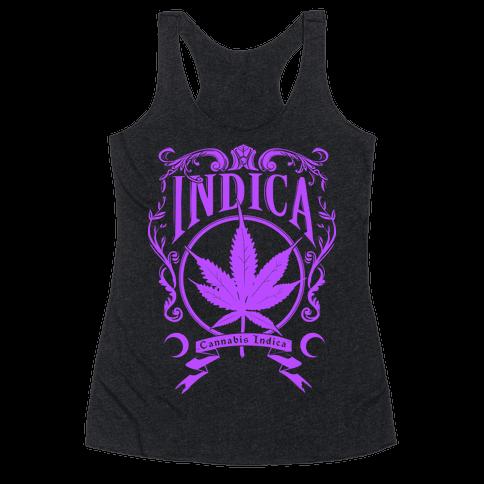 Cannabis Indica Racerback Tank Top