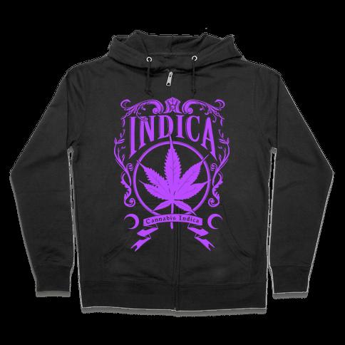 Cannabis Indica Zip Hoodie