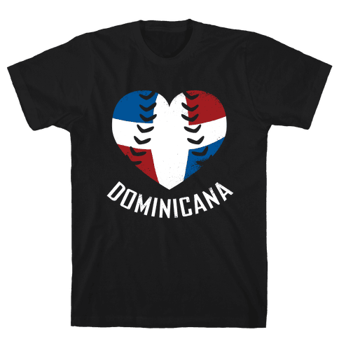Dominican Baseball Love Mens T-Shirt