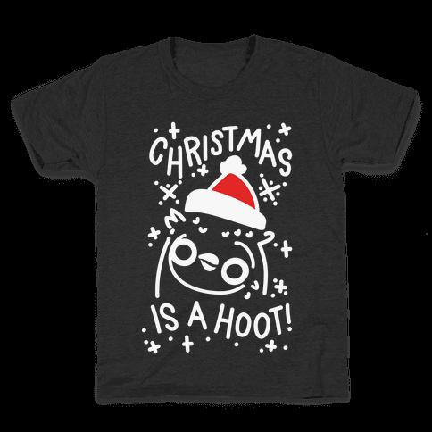 Christmas Is A Hoot Kids T-Shirt