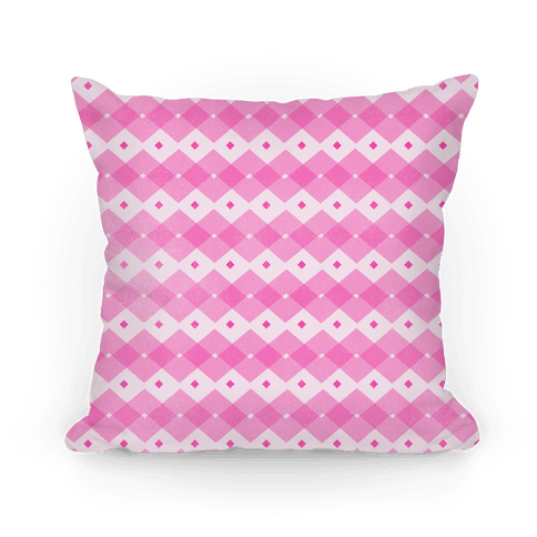 Pink Checkered Pattern Pillow