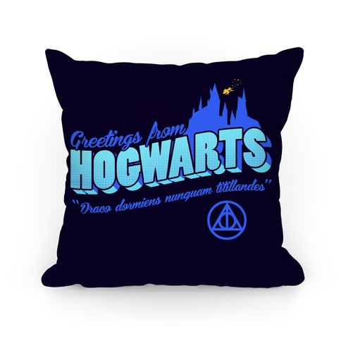Greetings From Hogwarts Pillow