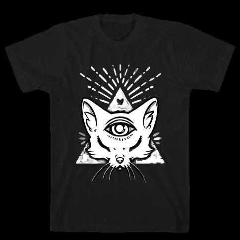Purrlluminati Mens T-Shirt