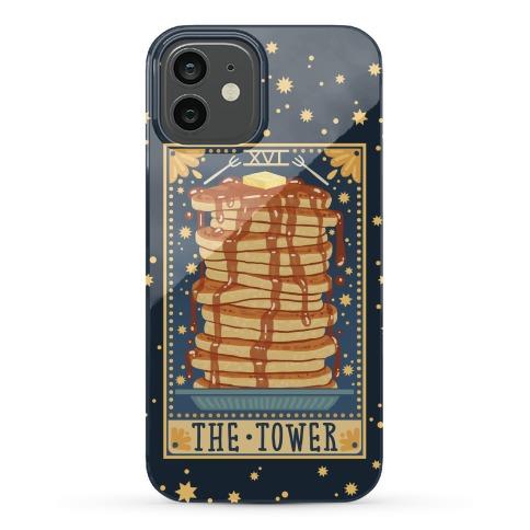 Tarot Card: The Tower (Of Pancakes) Phone Case