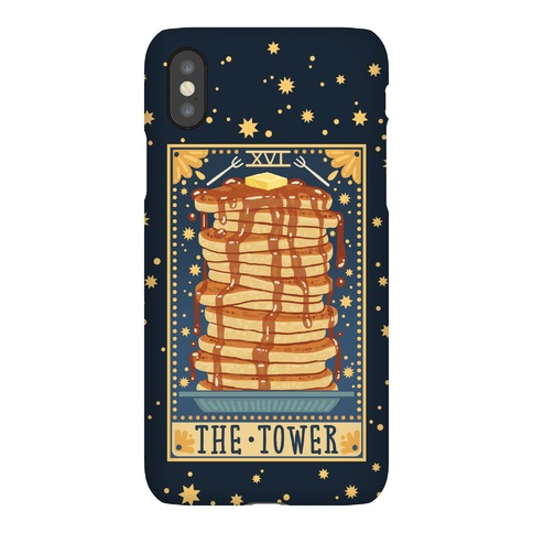Tarot Card: The Tower (Of Pancakes) Phone Case