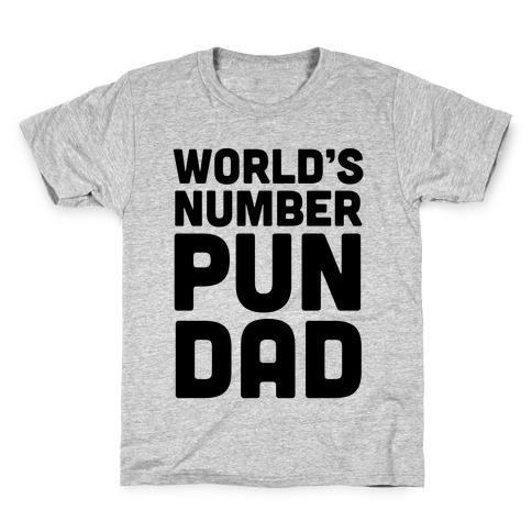 World's Number Pun Dad Kids T-Shirt