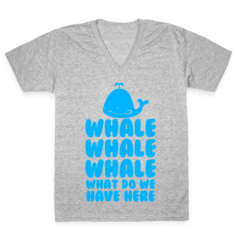 Whale Whale Whale V-Neck Tee Shirt
