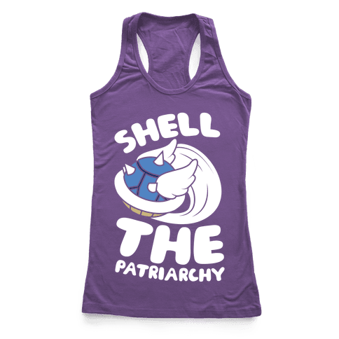 Blue Shell The Patriarchy Racerback Tank Top