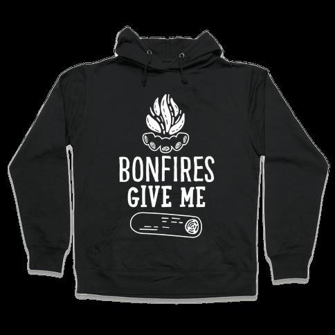 Bonfires Give Me (Wood) Hooded Sweatshirt