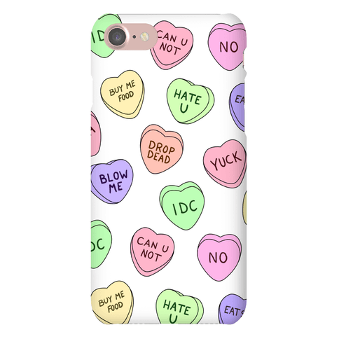Conversation Hearts Phone Case