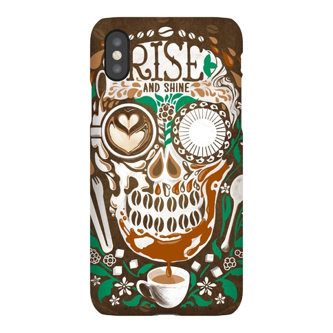 Rise and Shine Coffee Skull Phone Case