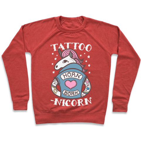 Tattoo-nicorn Pullover